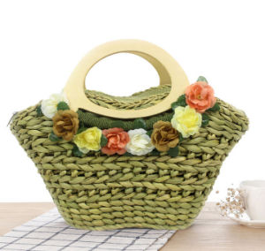 Handmade Simple Fashion Paper Straw Beach Tote Bag /Straw Basket Bag