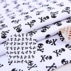 Black Skull Patterns 250GSM Cotton Canvas Fabric pictures & photos