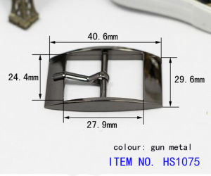 Professional Supplier of Alloy Men′s Leather Pin Belt Buckle pictures & photos