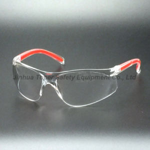 Ce En166 Impact Resistant PC Lens Safety Glasses with Pad (SG123) pictures & photos