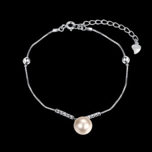 925 Sterling Steel Bracelet Fashion Pink Shell Bead Young Silver Bracelet Rope Chain pictures & photos