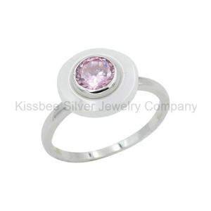 Fashion 925 Sterling Silver Jewelry Ceramic Accessories Gemstone Ring (R21114) pictures & photos
