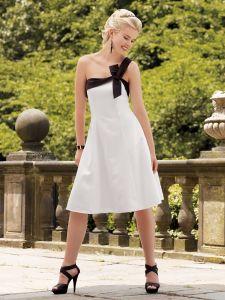One Shoulder Evening Dress Taffeta of High Quality
