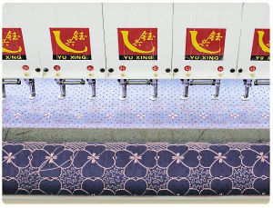 Dong Guan Yuxing Computerized Quilting and Embroidery Machine for Garments with CE&ISO pictures & photos