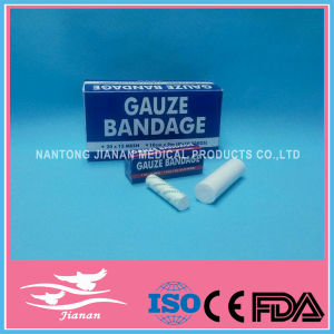 Absorbent 100% Cotton Gauze Bandage, Sterile or Non-Sterile, with CE and ISO