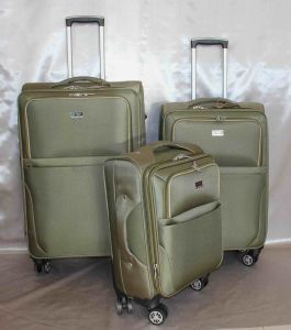 EVA Trolley Case Set of 3 Green Color 1680d Material pictures & photos