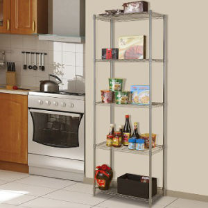 Adjustable 250lbs Powder Coated Kitchen Metal Wire Shelving with NSF Approval pictures & photos