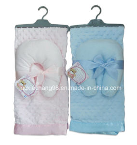 100% Polyester Micro Mink Baby Blanket with Pillow pictures & photos