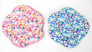 Colorful Printed Seat Mat Cushion with Rose Design