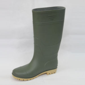 PVC Rain Boots (Green upper/Yellow Sole) . pictures & photos