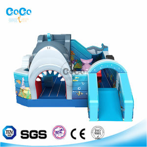 Cocowater Design Shark Theme Inflatable Slide/Bouncer LG9016