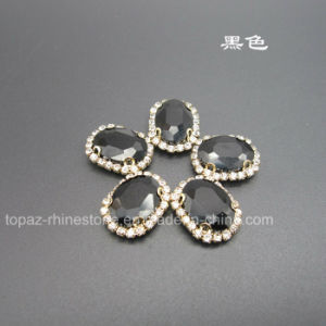 Fancy Claw Setting Crystals Sew on Rhinestone (SW-Navette 13*18mm) pictures & photos