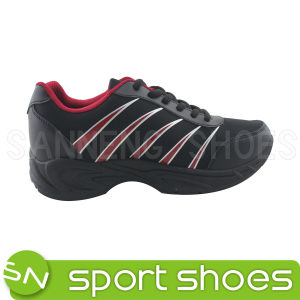 Men′s Sports Shoes PU Injection Sports Shoes PVC Outsole (SNS-01030) pictures & photos
