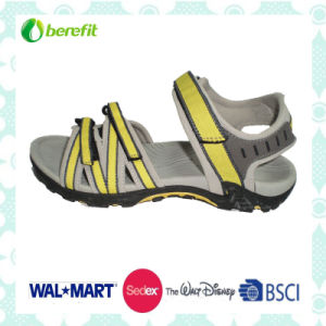 Yellow PU Upper and TPR Sole, Women′s Sandals pictures & photos