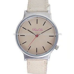 2013 New Casual White Fabric Stap Watch (RD-AO81)