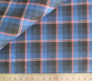 Blue/Red/Black Checks 125GSM 100% Cotton Yarn Dyed Fabric pictures & photos