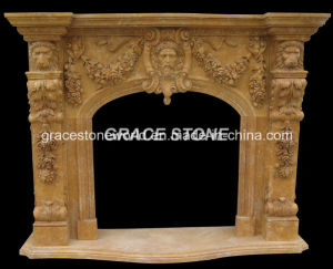 Marble Carved Fireplace Mantel (GS-FF-024) pictures & photos