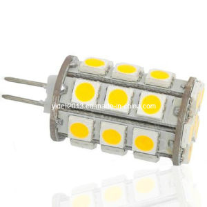 Warm White 360deg G4 LED Bulb Light DC 12V 27 5050 SMD Capsule Shape pictures & photos