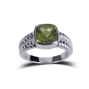 Shioda Stream Birthday Commemoration Green Natural Stone Jewelry Rings Fashion pictures & photos