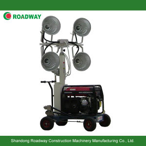 Hand Push Gasoline Generator Set Mobile Light Tower, Tower Light pictures & photos