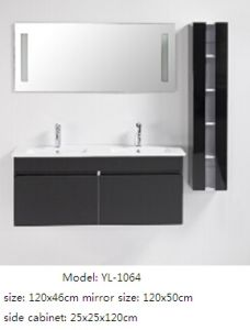 Sanitary Ware Double Sink Bathroom Cabinet with Mirror pictures & photos
