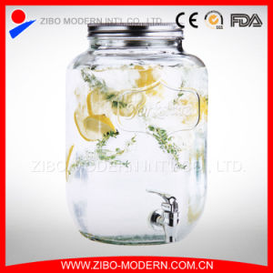 2gallon Clear Glass Beverage Dispenser with Tap pictures & photos