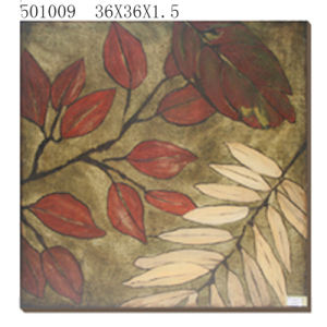 New Design Golden Leaf Foil Painitng-Canvas Leaf Oil Painting-Wall Decoration Leaf Painting pictures & photos