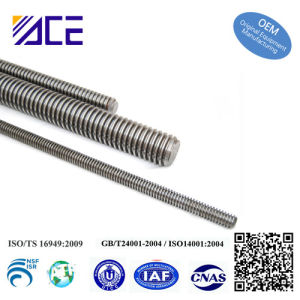 Aluminum CNC Machining Part Stainless Steel Acme Thread Rod pictures & photos