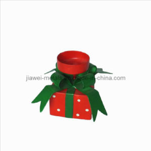 Christmas Candle Holder with Gift Box Design