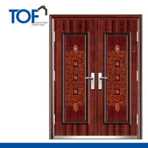 Decorated CIQ Soncap High Quality Steel Exterior Security Door