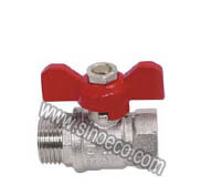 Nickel Plating Male Forged Brass Ball Valve with Butterfly Handle pictures & photos