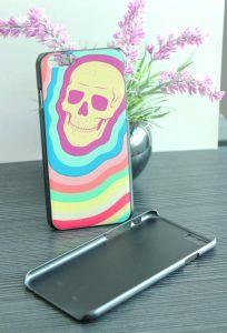 Black Plastic Graffiti UV Printing for iPhone 6 Protect Case