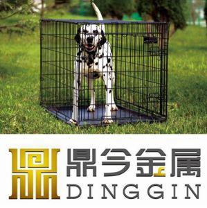 Black Eletro-Coat Metal Dog Pet Cage pictures & photos