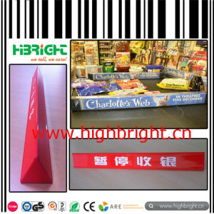 Checkout Counter Lane Divider Register Table Next Customer Bar Divider pictures & photos