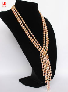 Fashion Pink Wedding Freshwater Pearl Necklace pictures & photos