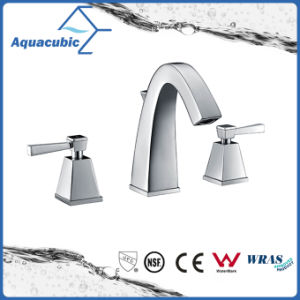 Two Handle Brass Basin Bathroom Faucet (AF9207-6) pictures & photos