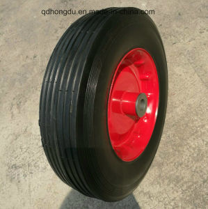 Wheelbarrow Spare Parts Durable Use Rubber Solid Wheel pictures & photos