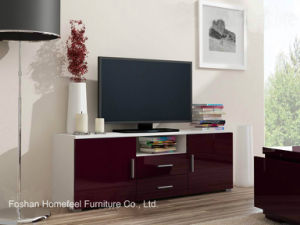Functional TV Cabinet with High Gloss Front Panel (HHTV07) pictures & photos