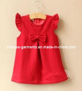 Wholesale Baby Bowknot Dress, Baby Dress, Cotton Dress