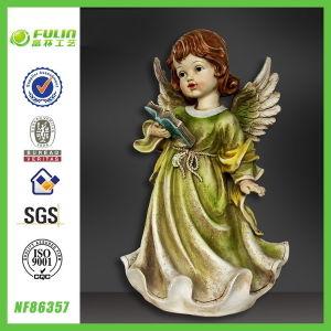 Elegant Girl Figurine Cheap Garden Resin Baby Stand