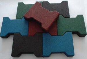 Small I Type Rubber Flooring/Rubber Tile pictures & photos