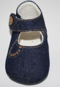 Jeans Fabric Baby Shoes Ws17537 pictures & photos
