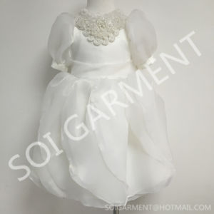 Latest Lovely Short Lace Princess Baby Girls Dress (KDR-04)