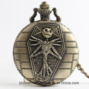 Cool Watch Men Antique Bronze Pocket Watch with Japan Movement pictures & photos