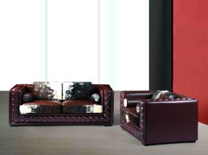 Hotel Living Room China Classic Leather Sofa