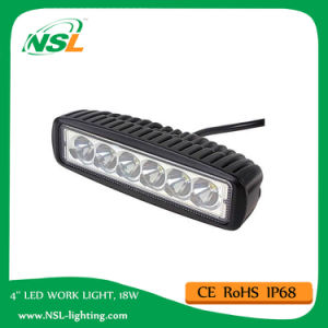 Auto LED Work Light Bar 18W 12V 6 Inch Trucks Vehicles Working Light Bar pictures & photos