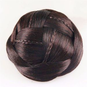 New Novelty Hair Accessories for Women Hair Braided Chignon Synthetic Hair Bun Extensions pictures & photos