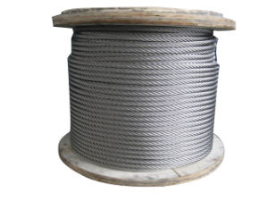 Galvanized Aircraft Steel Wire Rope Cable 7X19 pictures & photos