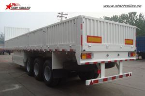2-3axles Sidewall Semi Trailer with Container Locks Optional pictures & photos