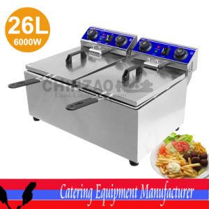 Double Countertop Electric Deep Fryer Dzl-132b pictures & photos